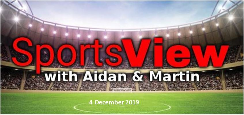 Sportsview 4 December on ROS FM