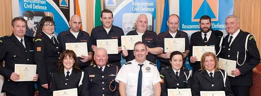 Roscommon Civil Defence-ceremony